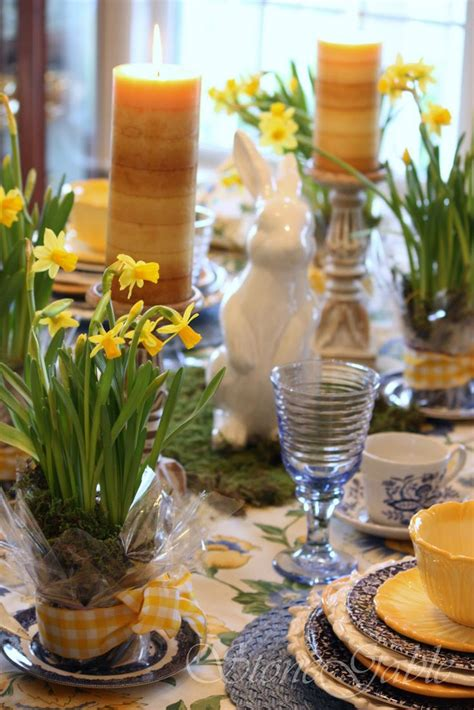 spring tablescape easter tablescape easter pinterest