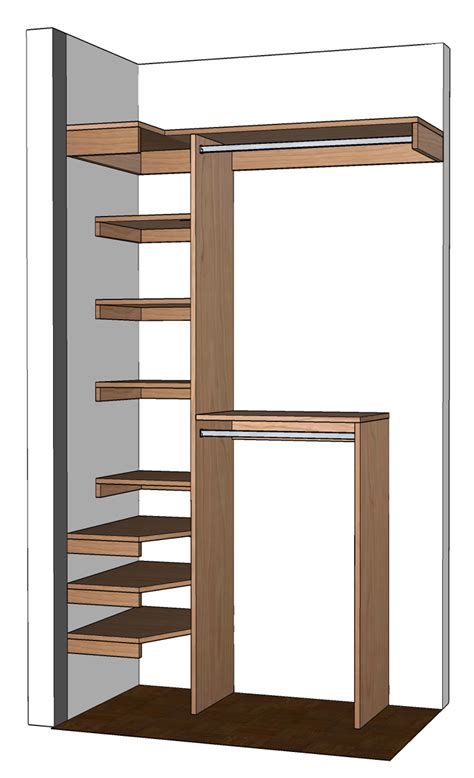 Small Closet Drawers by Diy Small Closet Organizer Plans