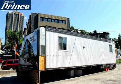 bureau de chantier roulotte de chantier qu 233 bec location prince