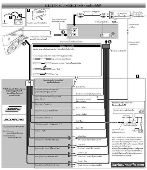 diagram kabel mobil kenwood melepas dan memasang mobil suzuki karimun