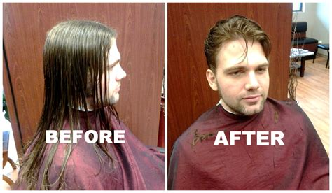 before and after thinning mens haircut gallery premier cuts hair salons