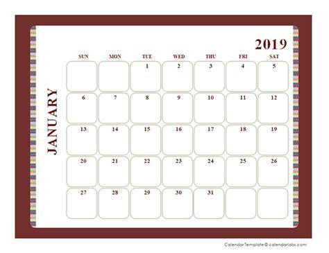 blank calendar large boxes template  printable templates