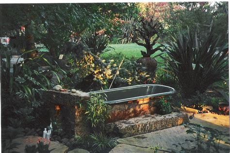 Outdoor Bathtub by Outdoor Tubs On Pinterest Outdoor Tub Tubs And