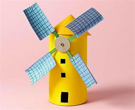 Windmill Papercraft - 150 toilet paper roll crafts hative