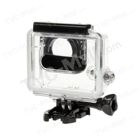 Gopro 4 White protective housing microphone with clip mic