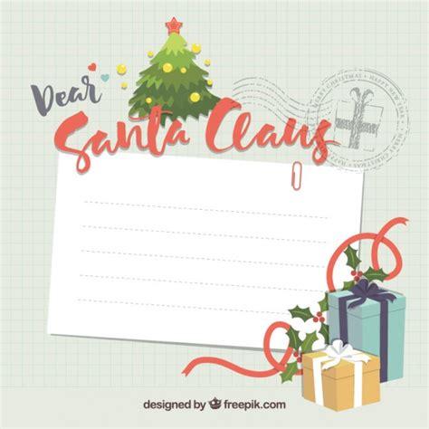Kostenlose Briefvorlage Weihnachtsmann Briefvorlage Der Kostenlosen Vektor