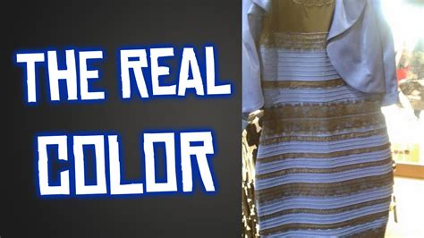 color of the dress what color is the dress the real color revealed