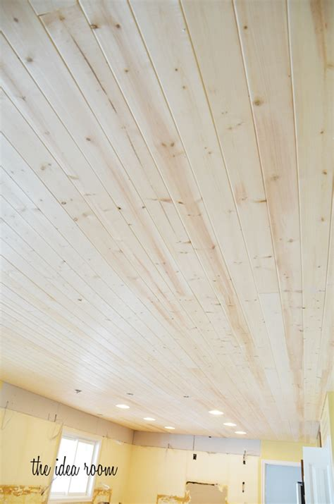 Plank Boards For Ceilings How To Diy A Wood Plank Ceiling Plank Ceiling The End