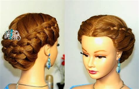 hairstyles for long hair updos with braid braided updo hairstyle for medium long hair with 4 strand