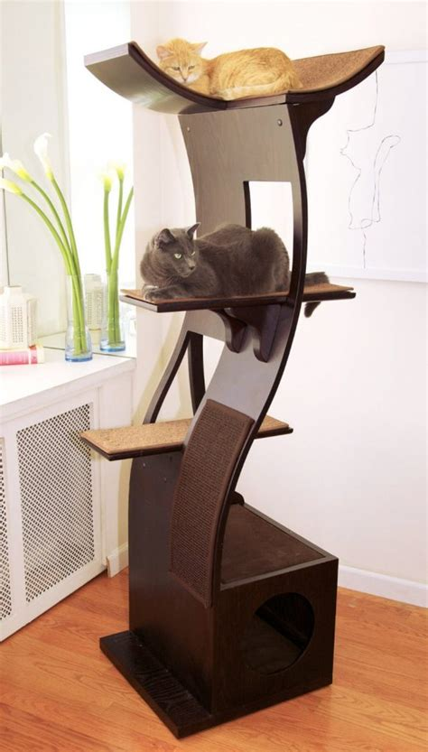 unique condos modern cat tree furniture stylish cat 6 unique modern cat trees to spruce up your living space