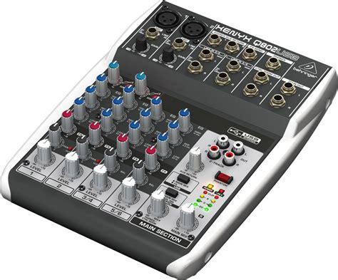 Behringer Mixer Xenyx Q802usb behringer xenyx q802usb 8 input mixer with usb pssl