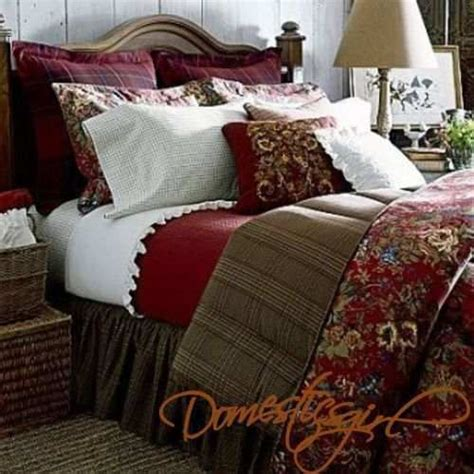 houndstooth bedding chaps summerton full 4 piece comforter set red floral