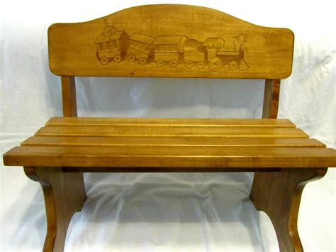 wooden bench for kids personalized wood children s bench custom engraved design