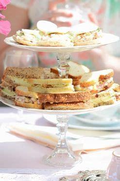 tea sandwiches vintage tea and tea bridal