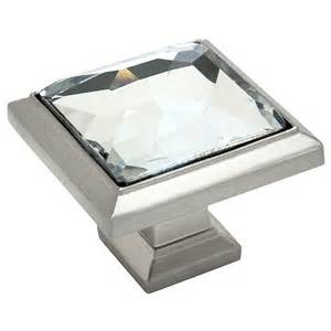 square glass cabinet knobs satin nickel clear glass square cabinet knob