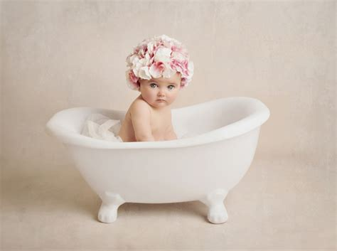 baby in bathtub denny rub a dub tub baby posing roll top bath luxs