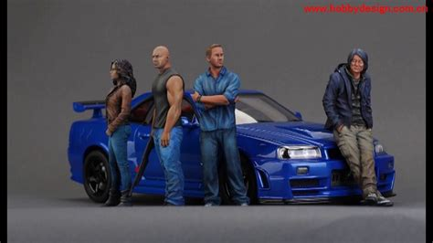 furious 7 figures fast furious 7 resin figures and nissan r34 diecast