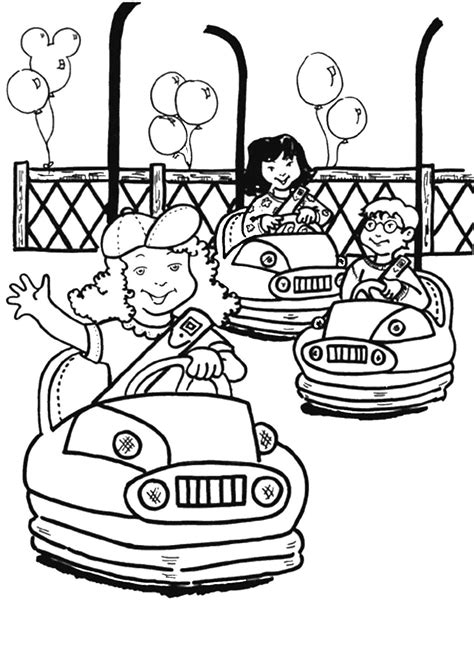 amusement park coloring pages az coloring pages