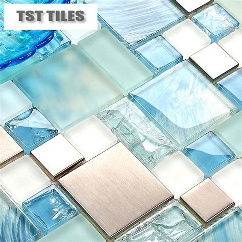 Modern Bathroom Tiles For Sale Modern Sale 11sheets Lot Blue Sea Glass Kitchen Tiles