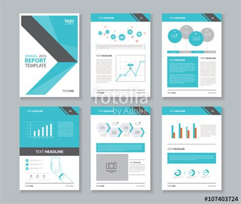 quot company profile annual report brochure flyer layout