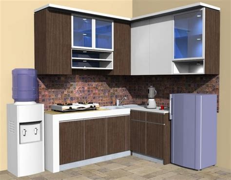 Hiasan Dinding Untuk Dapur Kitchen Set Wall Decor model kitchen set l mini untuk dapur mungil 8 dinding warna krem dan lebih simpel ideas for