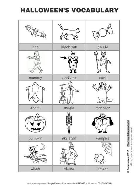 imagenes halloween ingles vocabulario halloween blanco y negro imagen orientaci 243 n