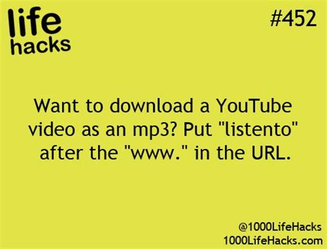 Download Mp3 From Youtube Hack | life hack 452 this is so awesome pinterest how much i