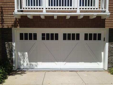 Cottage Style Garage Doors by Cottage Wood Carriage House Style Garage