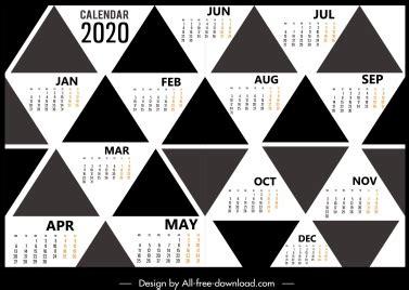 calendar template black white design tree icons vectors stock  format