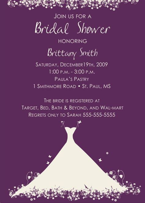 Bridal Shower Gift Cards Only - bridal shower invitation verbiage bridal shower invitation wording for money card