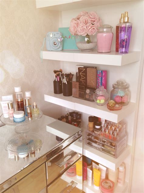 bathroom makeup storage ideas my room girlie makeup ikea lack shelves make up storage