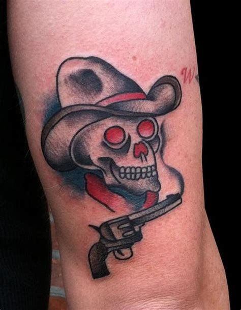 cowboy skull tattoo traditional cowboy skull www pixshark