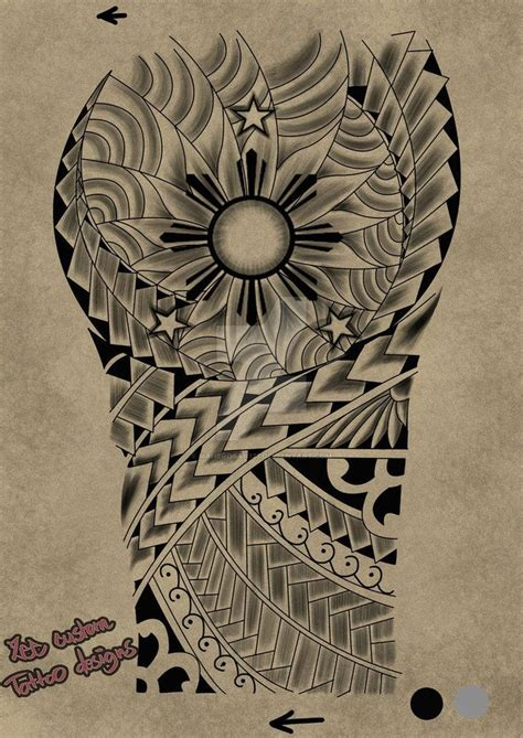 ancient filipino tattoo designs 45 best sun tribal designs images on