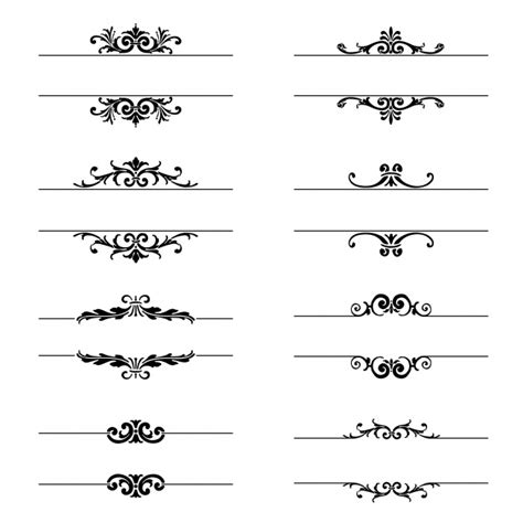 ornament design elements vector set ornamental elements collection vector free download