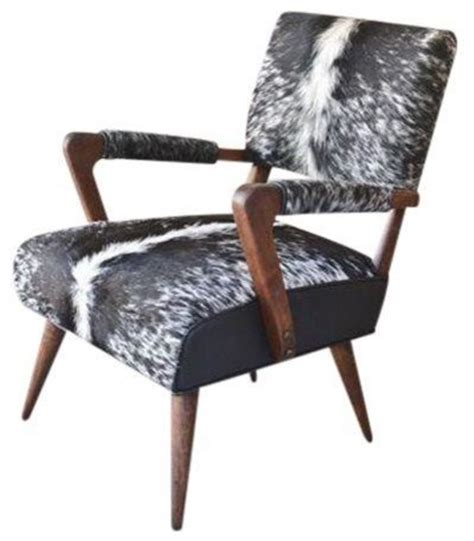 Modern Cowhide Chair - gilbert rohde cowhide lounge chair modern armchairs