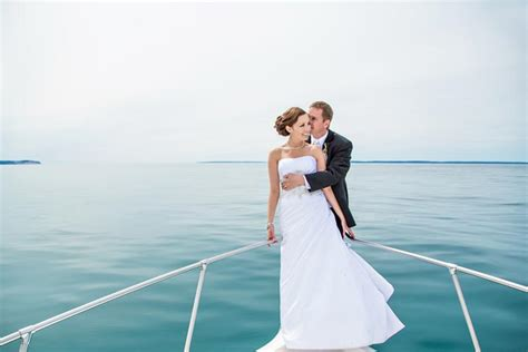 Wedding On A Boat by Boat Wedding Dresses