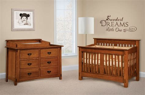 Solid Wood Nursery Furniture Sets San Marino Wooden Nursery Set Countryside Amish Furniture