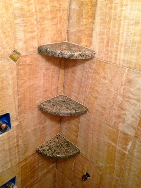 Custom Shower Shelves by Creative Carpeting Projects