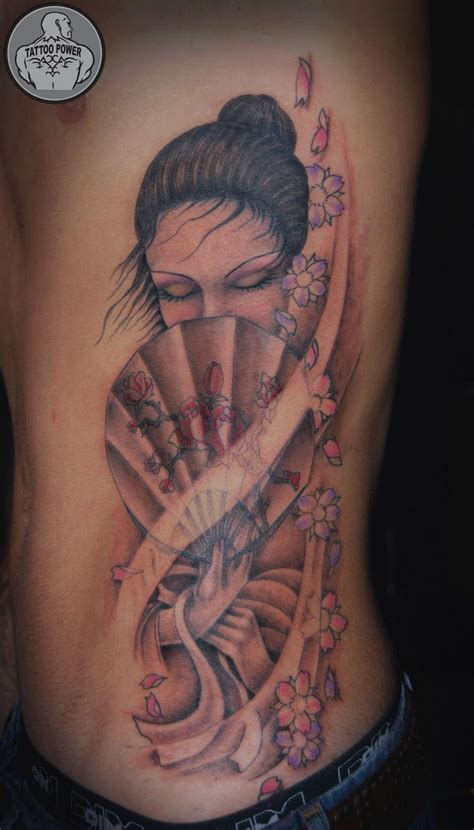 tattoo geisha e carpa tattoo power geisha costelas