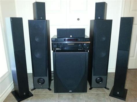 home theater system 7 surround speakers w receiver