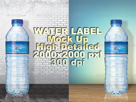 Water Bottle Label Template By Retroble Graphicriver Bottle Label Template Photoshop