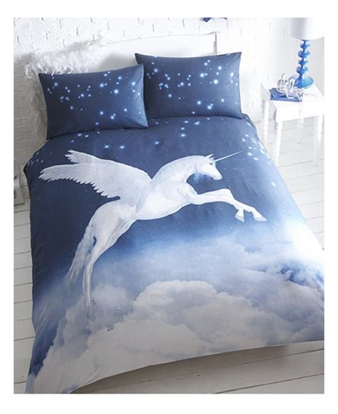 Fairytale Wall Murals unicorn single duvet cover and pillowcase set bedroom