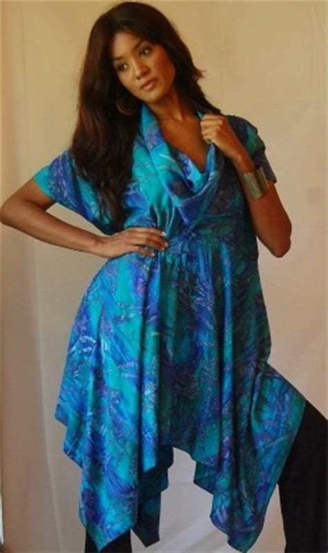 Hem Batik Mazaya 8 u720 batik blouse top tunic made to order asymetric hem empire line cowl neck ebay