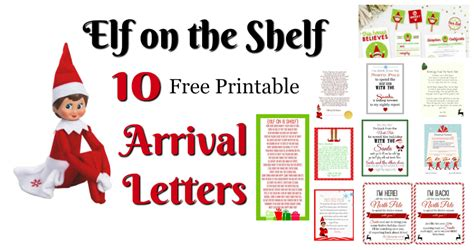 Printable Letters From Santa About Elf On The Shelf | elf on the shelf ideas for arrival 10 free printables