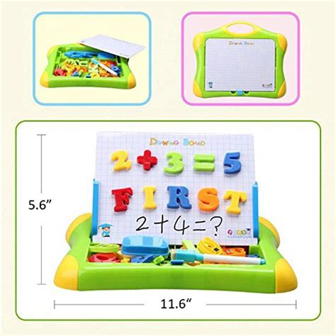 Mainan Edukasi Magnetic Learning Drawing Board 2 In 1 2 in 1 magnetic drawing and writing board with letters numbers sketchpad learning for kid