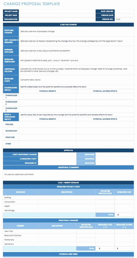 7 Process Change Proposal Template Iayty Templatesz234 Change Management Template Word