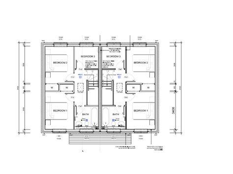 Semi Detached Floor Plans | 2 bedroom semi detached house plans terraced house semi