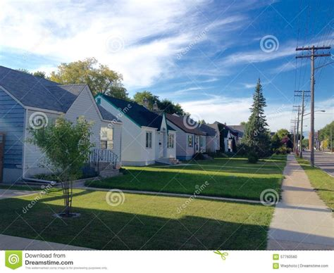 City Cottage Builders by Houses In Winnipeg Stock Photo Image 57760560