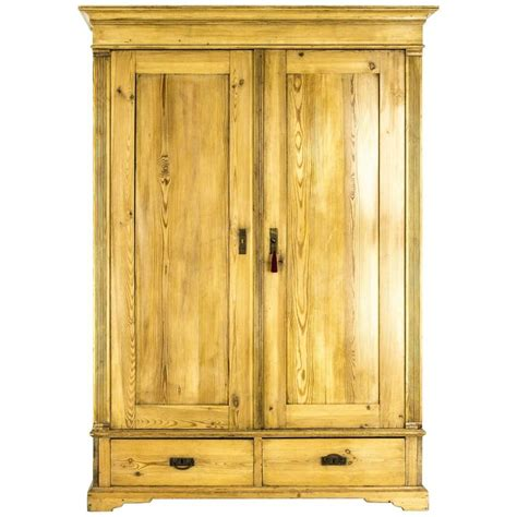 pine armoire wardrobe antique danish two door pine armoire wardrobe closet at