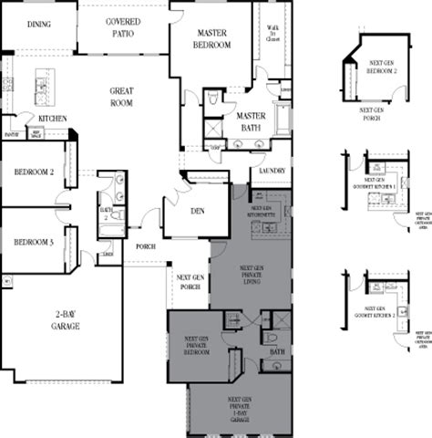multi generational house plans studio design gallery